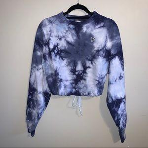 PINK Victoria's Secret purple tie dye crop sweater